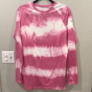Nike Pro Combat Pink Tie Dye Top